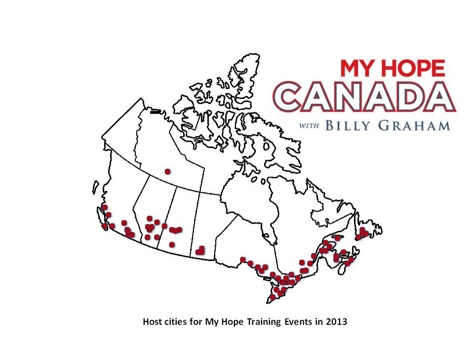 Host cities for My Hope Training Events in 2013